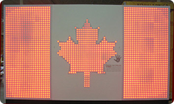 interactive led canada flag