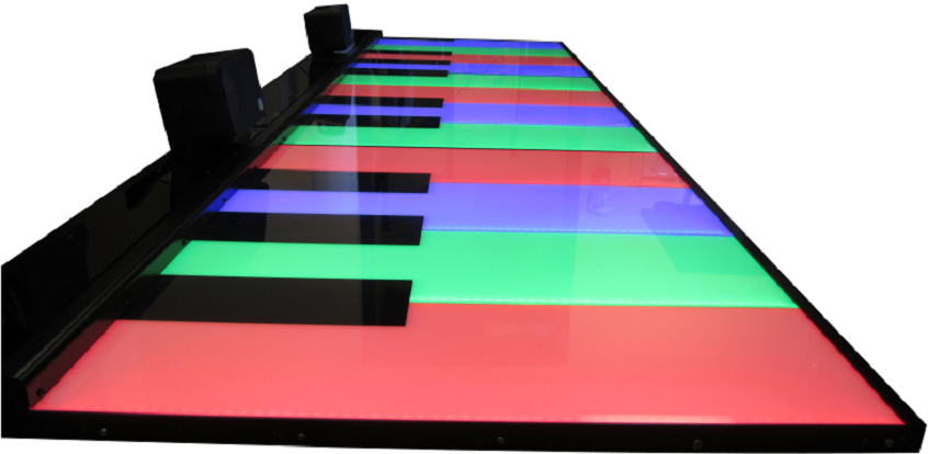 LED piano floor