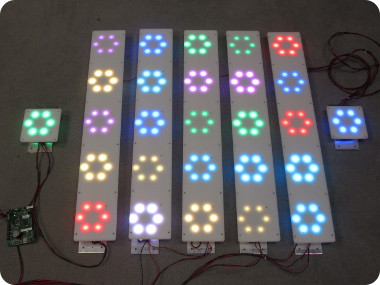 led touch sensor panels