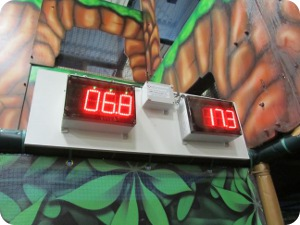 digital timer & score displays