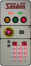 press operator control panels, machine controls, microprocessor controls, LED controls
